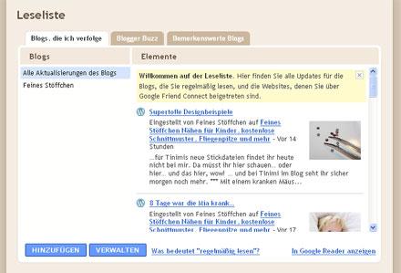 WordPress und andere Blogs mit Blogger verfolgen | Feines Stöffchen ...